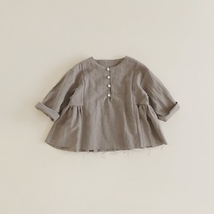 half gather pullover : gray