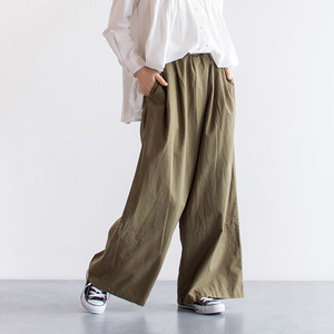 HEAVENLY(ヘブンリー) 911104 Cotton Twill Tuck Wide Pants