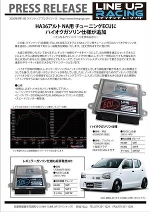 HA36 R06A チューニンググECU ハイオク仕様 プラグSET 初回特典付