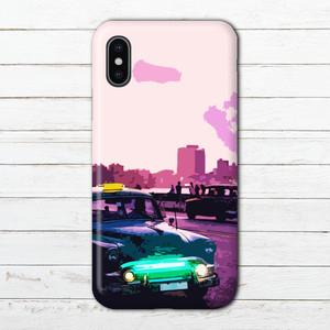 #000-127 iPhoneケース スマホケース おしゃれ メンズ 安い クール タイトル:夕暮れのハバナ Galaxy ギャラクシー