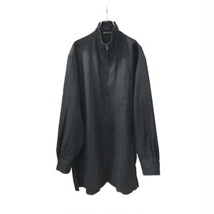 Y'S FOR MEN WOOL ZIP-UP HIGH NECK SHIRT