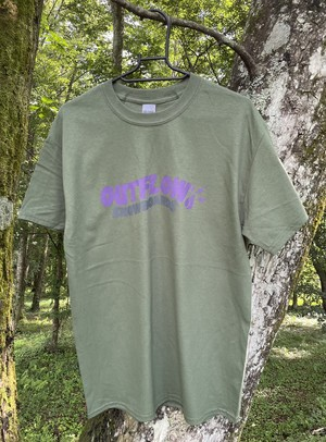 OUTFLOW /  Shakin's dub T-shirt    color :: Military Green