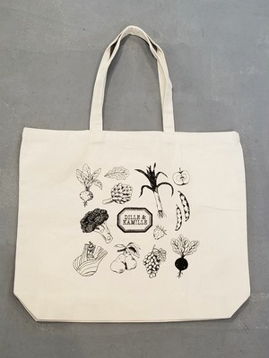 DILLE&KAMILLE Food pattern canvas bag 【B-264】
