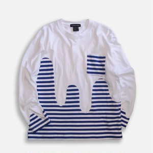 WCH Border Wave Patch LS T-Shirts -White