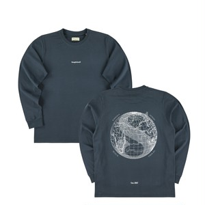 サスピシャスアントワープ The Voyager Longsleeve - Navy // White (Type I)