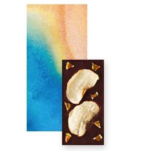 【季節のチョコレート】ドライアップル&キウイトッピングダークチョコレート(ミニサイズ)