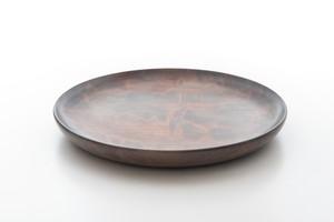 白拭き漆 平皿(中)