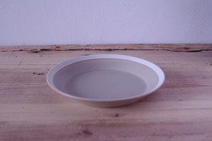dishes 180plate(sand beige/matte)木村硝子店×イイホシユミコ
