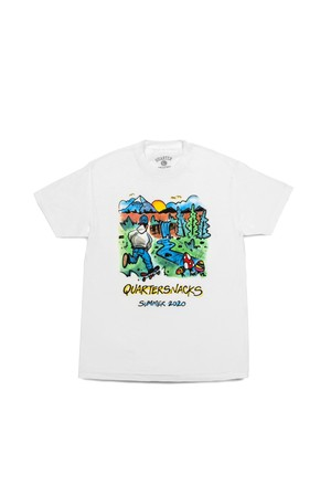 QUARTER SNACKS 2020 SUMMER CAMP TEE WHITE
