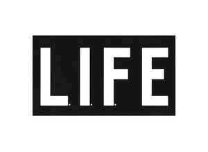 L.I.F.E Sticker black
