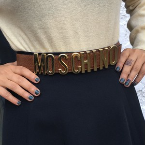Moschino brown belt