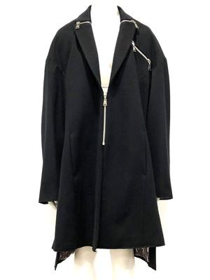 Zip Collar Coat (Black)