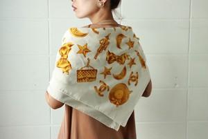 CHANEL accessory motif scarf
