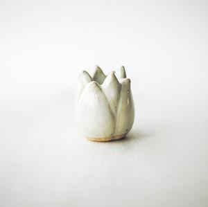 ハスの花の歯ブラシスタンド ライト 陶器