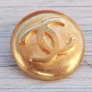 786 CHANEL VINTAGE (シャネル ヴィンテージ)COCOマーク デザイン ボタン ゴールド