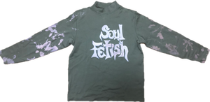 """Soul fetish"" tie-dye long sleeve tee by kodi"