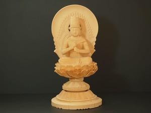 木彫り 本尊 ◆ 大日如来 (丸台座) 2.5寸