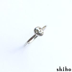 とぼけた表情のスカルリング【skull ring(sv)】