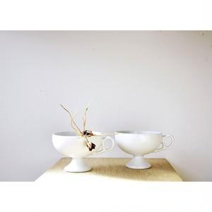 【ティーカップ】日本製 美品 白磁  海外輸出向け ヴィンテージ デッドストック