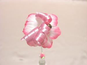 ワイヤーフラワー-ピンク-