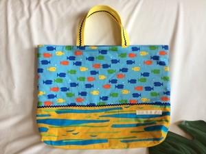 入園入学レッスンバッグ手提げ絵本袋29お魚いっぱい