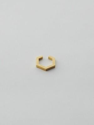 WEISS Hexagon Ear cuff Gold wei-ecgd-12