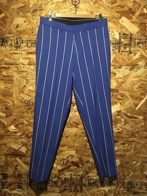 flat front stripe trousers