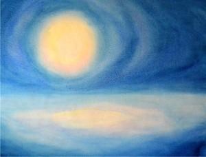 Moonriseー水彩画
