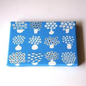 flower base (blue) ファブリックパネル