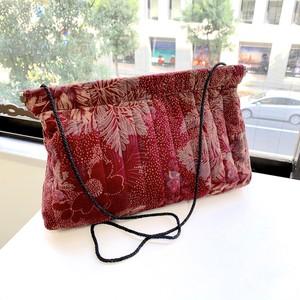 vintage floral handmade velvet shoulder/clutch bag