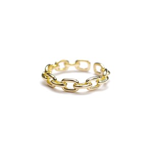 S925 ADJUSTABLE CHAIN RING GOLD 01