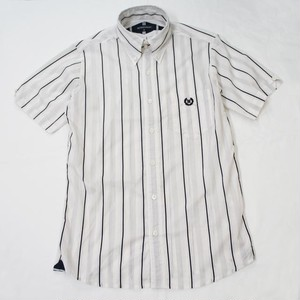STRIPE B.D. SS SHIRT  Off White / Black / Gray