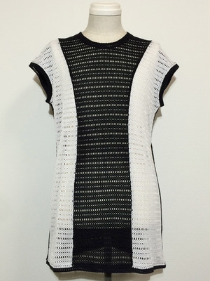 CONVERSION MESH VEST -BLACK / WHITE-
