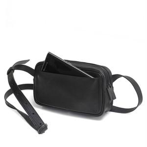 203ABG02 Leather shoulder bag 'double zip' ショルダーバッグ