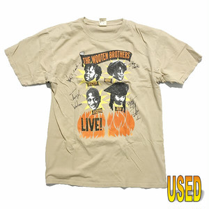 USED TEE ユーズド Tシャツ『The Wooten Brothers』 サイン入り ライブ Tシャツ 【pru0030-beg】L