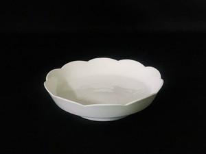 【井上萬二作】白磁梅彫文皿