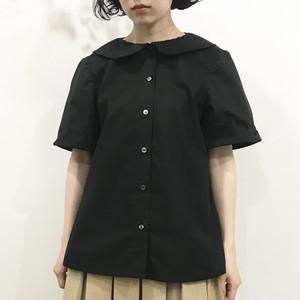 歪み袖ツイルシャツ