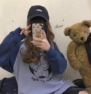 【トップス】秋冬ファッションスウィートフード付き配色カートゥーンパーカー