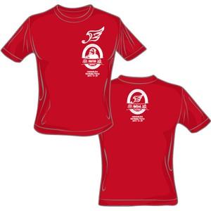ハヤブサ×串猿 コラボレーションTシャツ (赤body×白print)