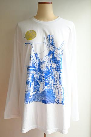 NO.432 町田駅前のロングTシャツ【東京】【XLサイズ】