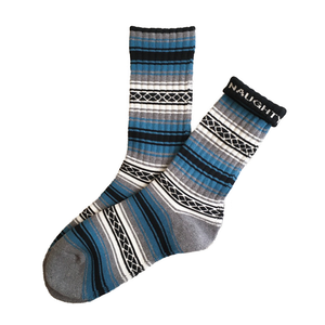 """FALSA -blue-"" Socks (limited edition by NAUGHTY)"