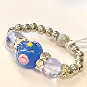 Item456R 小粒のバラ模様のヴェネチアンガラスのリング アラバストロ サファイア
