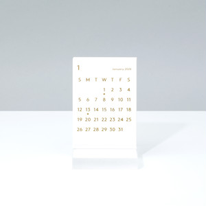 'CLARA' Desk Calendar 2020 White
