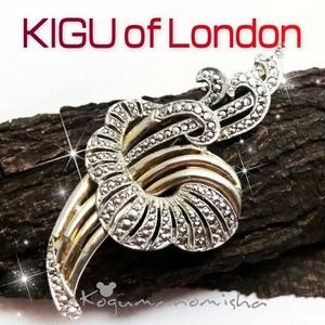 英国 KIGU of London ★優美なフローラルモチーフ ヴィンテージ マルカジット ブローチ 1950s  お花