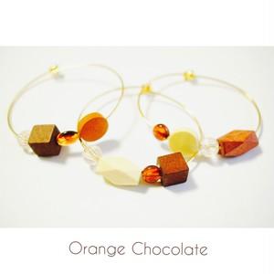 【残り1点】Orange Chocolate ウッドブレスレット