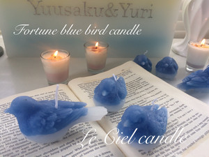 Fortune blue bird candle幸せの青い鳥