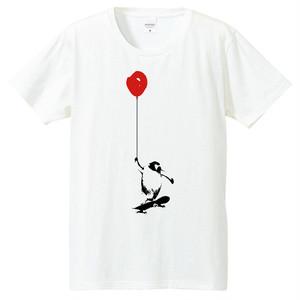 [Tシャツ] ペンギンと風船とスケートボード