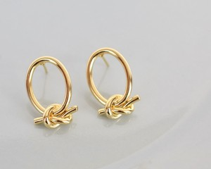 Knot shape pierce/earring