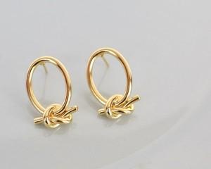 Knot shape pierce/earring