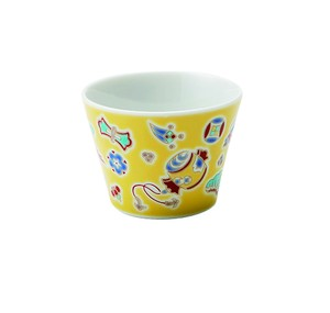 九谷十趣杯 黄交趾